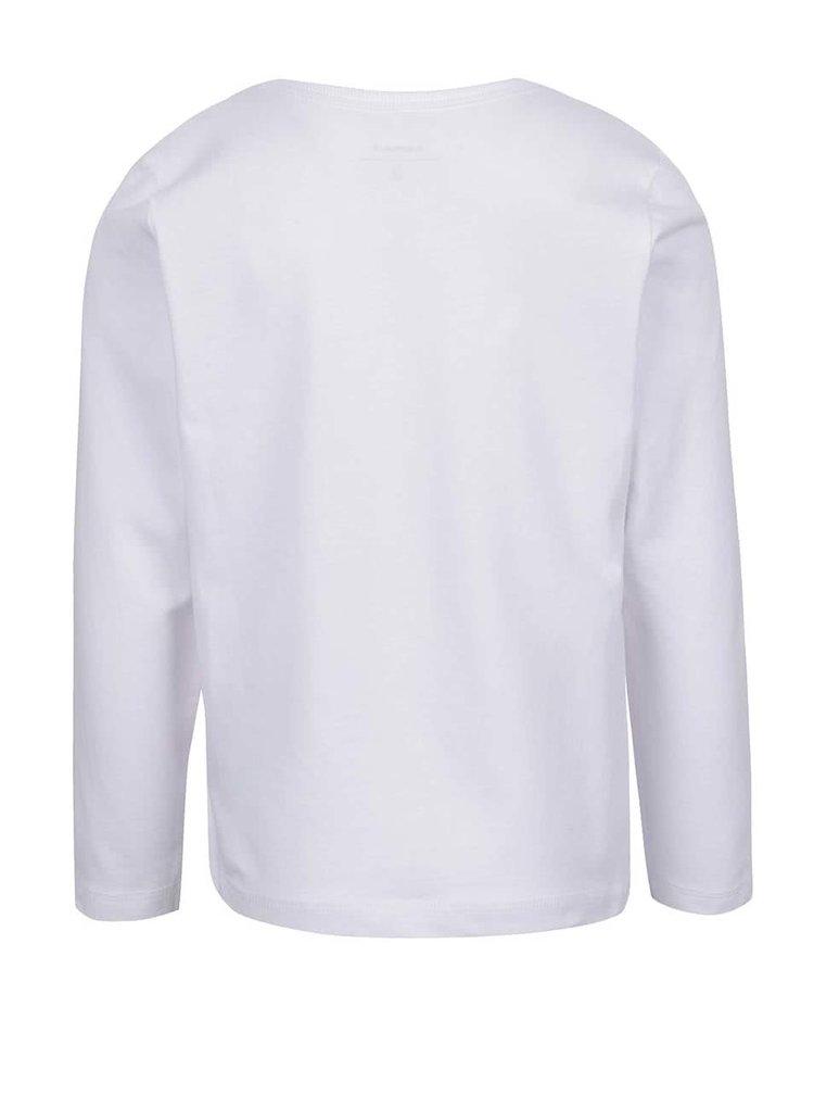 Bílé klučičí triko s dlouhým rukávem name it Falk