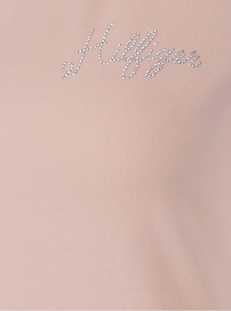 Světle růžové dámské tričko Tommy Hilfiger