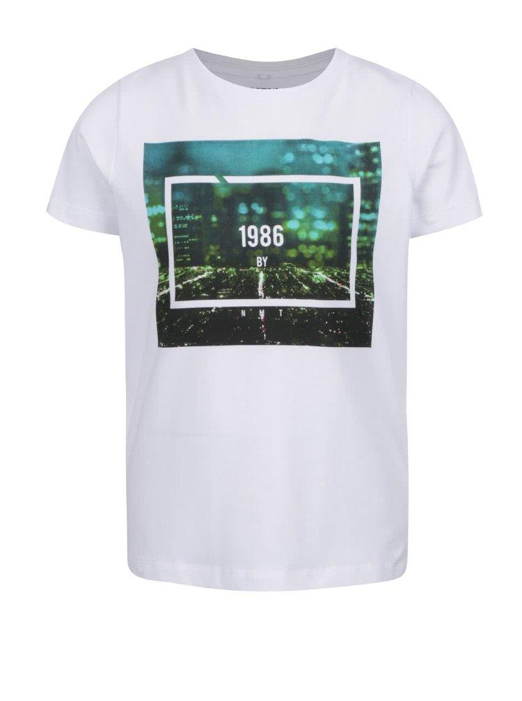Bílé klučičí triko s potiskem name it Fabio