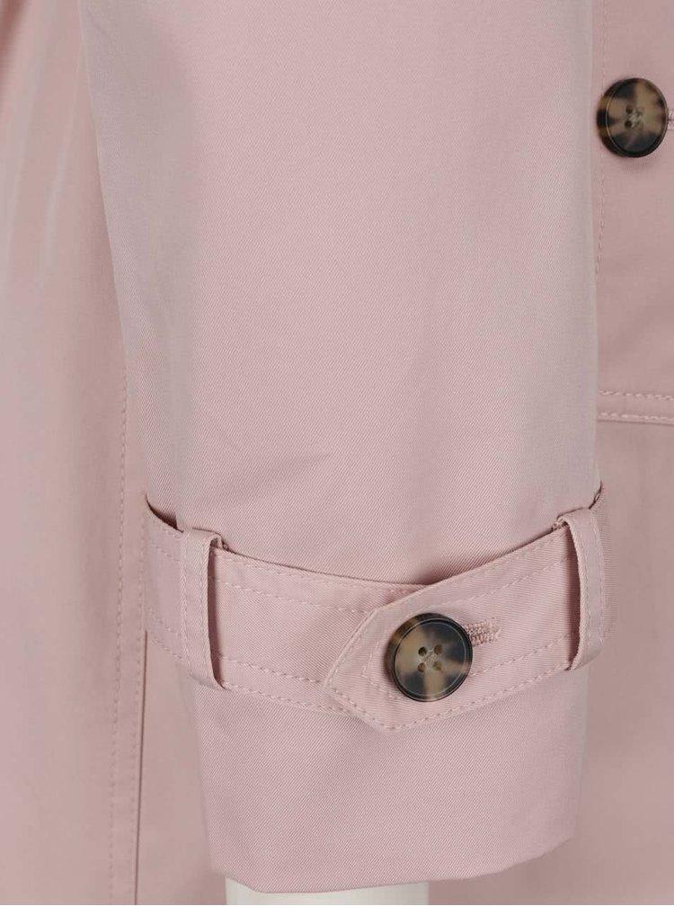 Světle růžový trenčkot Tommy Hilfiger