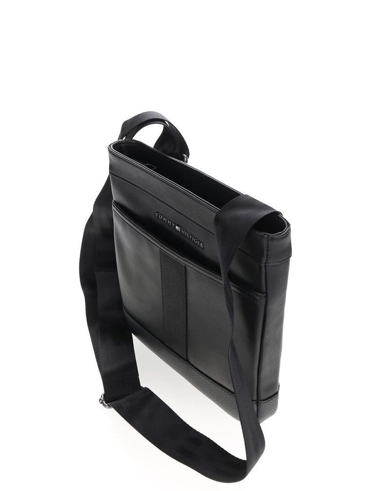Černá pánská koženková crossbody taška Tommy Hilfiger