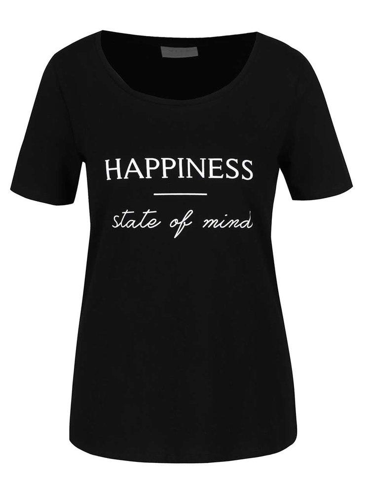 Tricou negru VILA States cu print