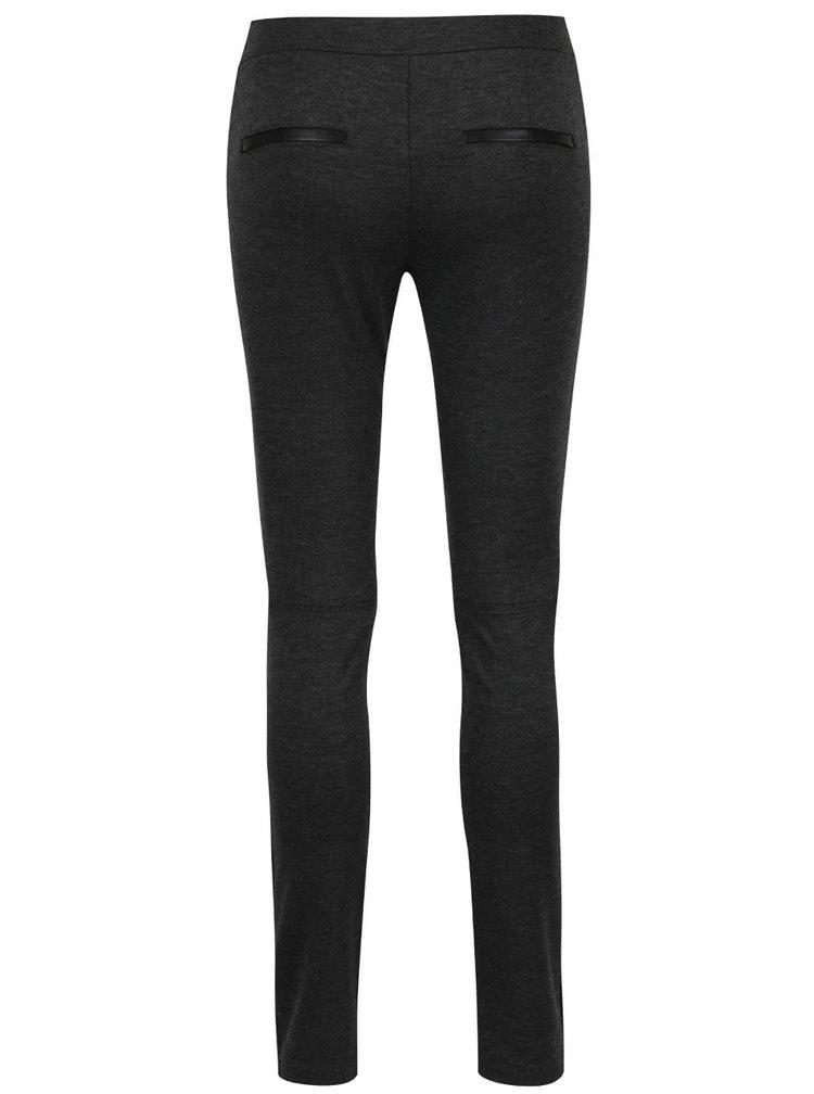 Tmavě šedé dámské skinny kalhoty s.Oliver