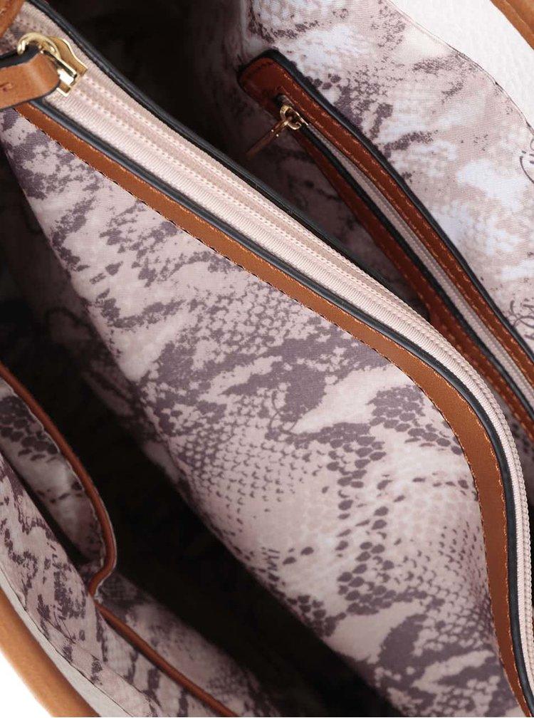 Geantă alb&maro Gionni Katlin cu barete fixe