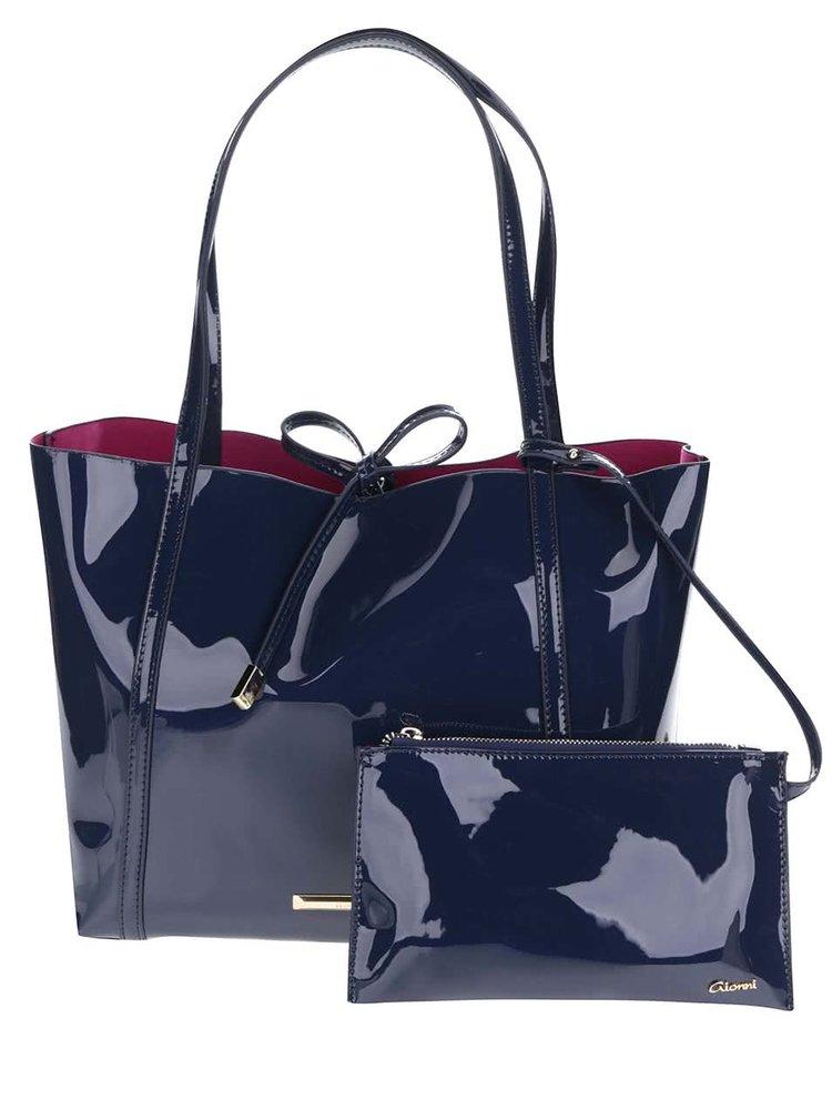 Set bleumarin cu geanta shopper&geanta pentru cosmetice Gionni Imaan