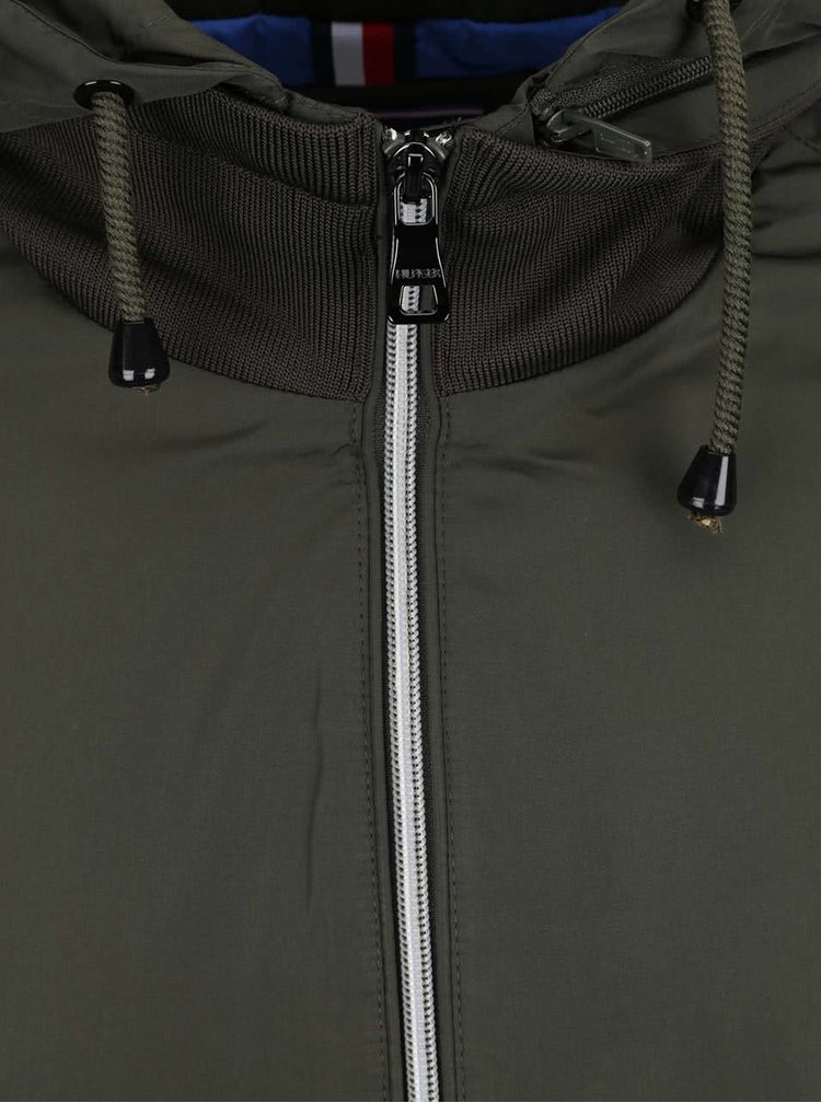 Tmavě zelená pánská bunda s kapucí Tommy Hilfiger