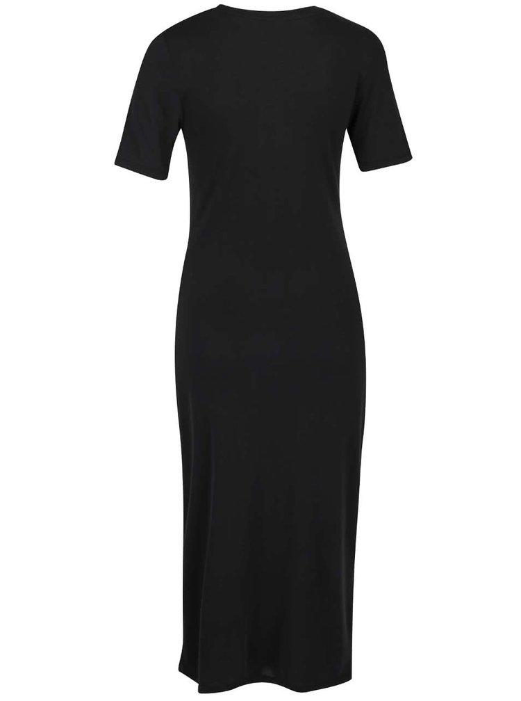 Černé šaty s nařasením Selected Femme Danique