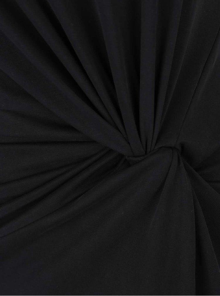 Rochie midi neagră Selected Femme Danique cu nod decorativ