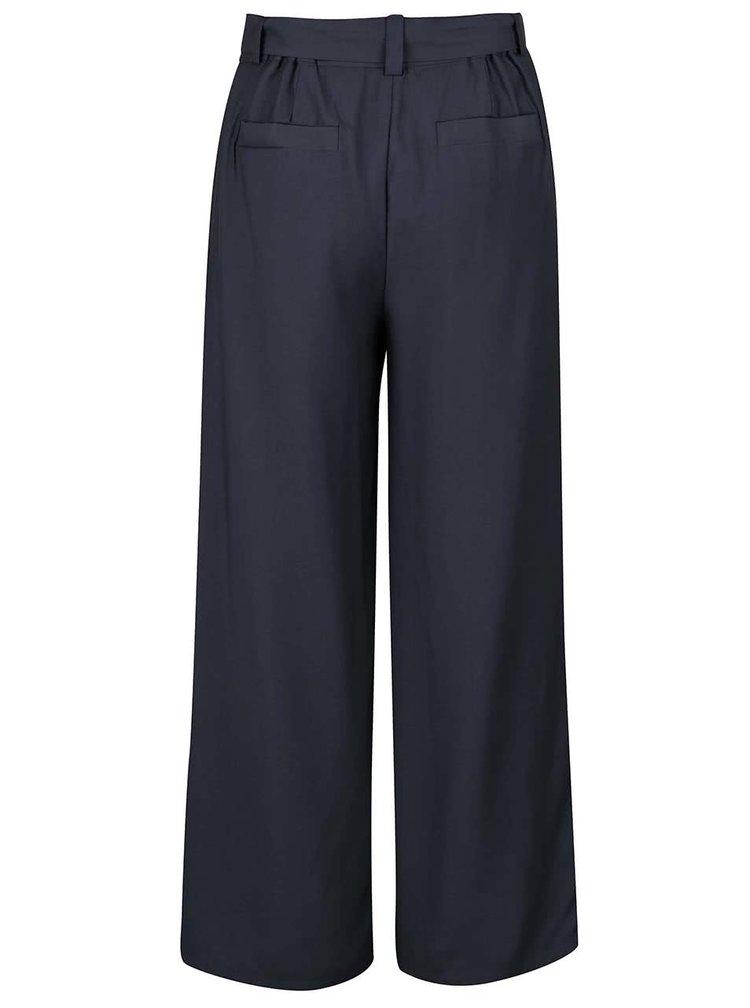 Sivomodré voľné nohavice Selected Femme Junee