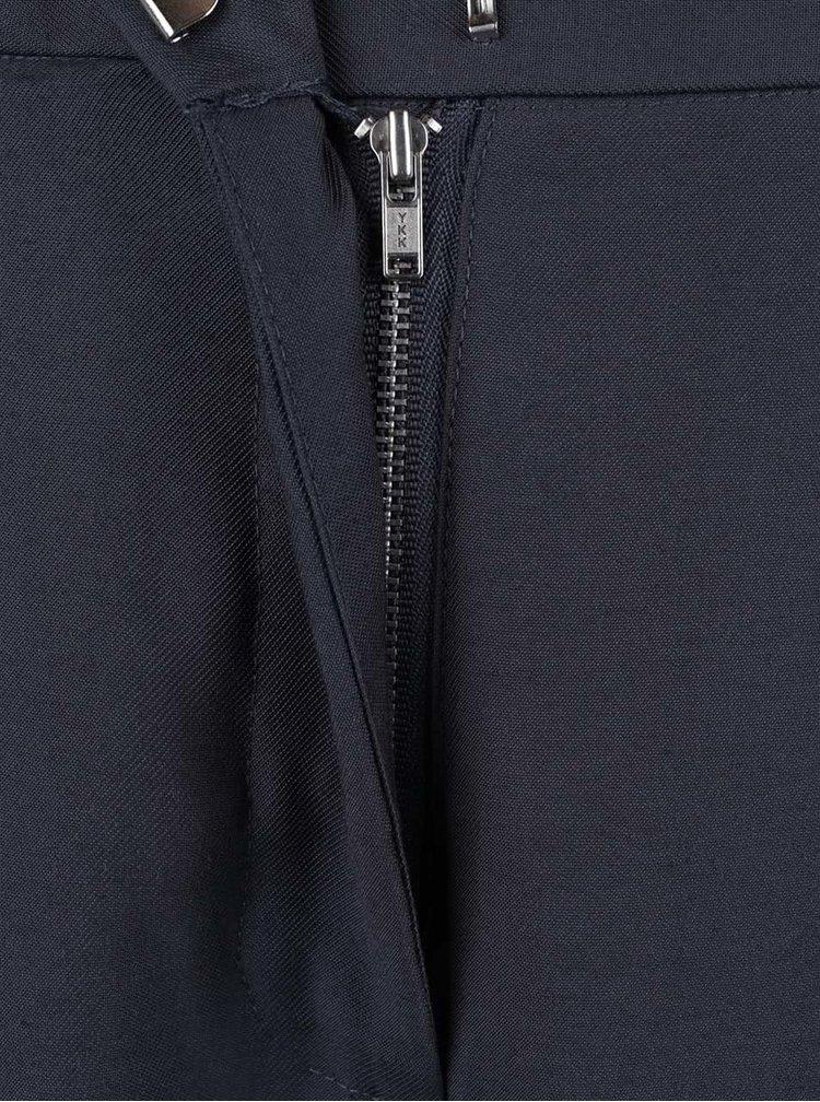 Pantaloni gri Selected Femme Junee cu talie înaltă