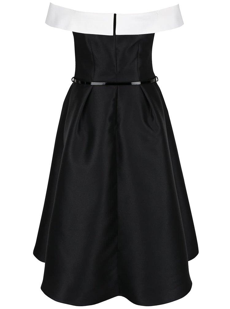 Krémovo-černé šaty s lodičkovým výstřihem Dorothy Perkins