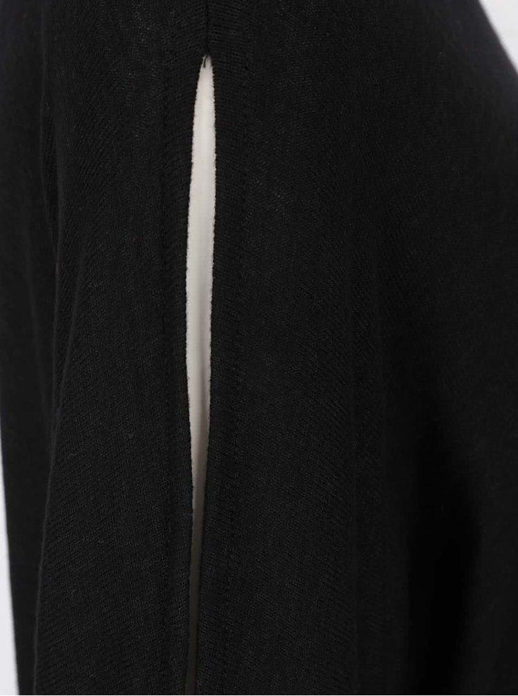Černý top s průstřihy na rukávech Dorothy Perkins