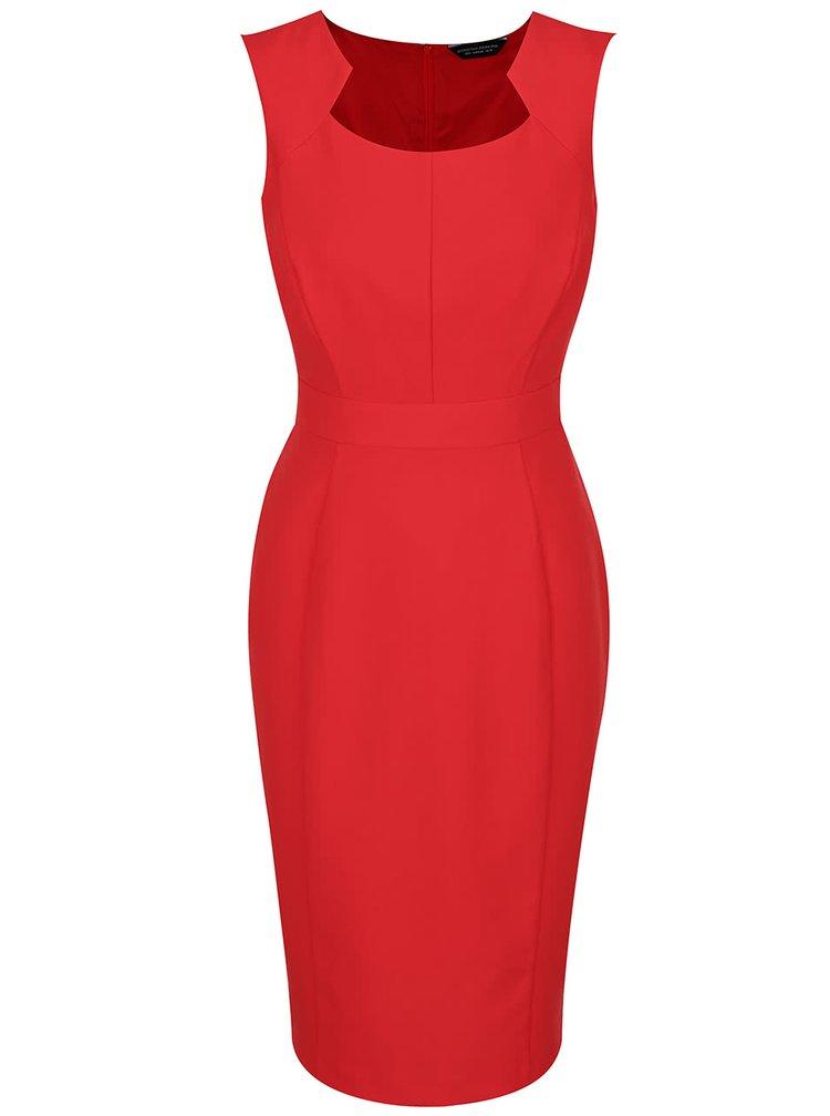 Červené pouzdrové šaty bez rukávů Dorothy Perkins