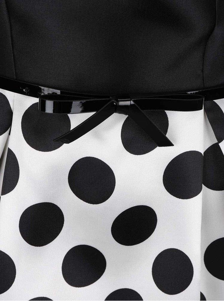 Černo-bílé šaty s puntíkovanou sukní Dorothy Perkins