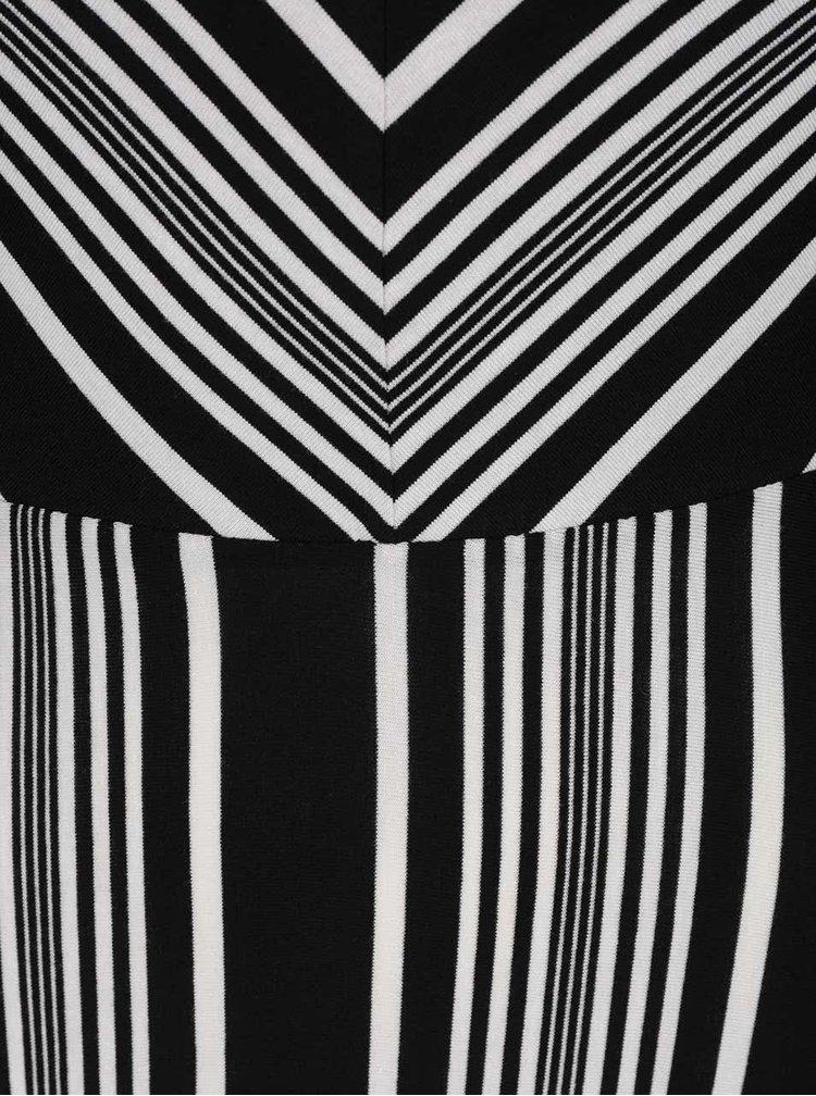 Rochie maxi Dorothy Perkins alb cu negru