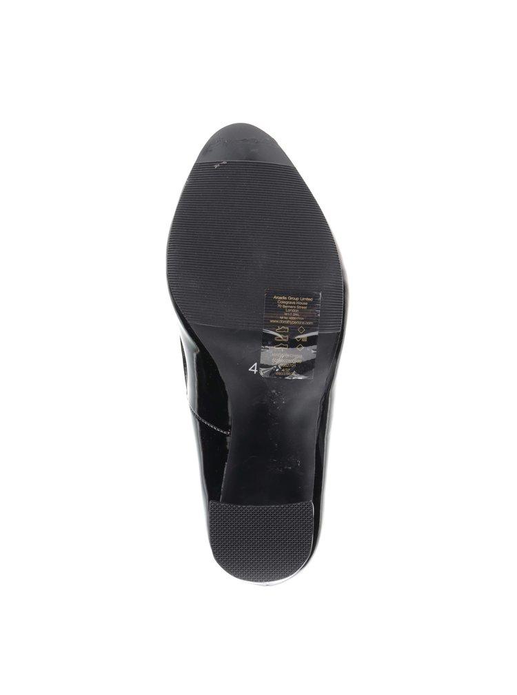 Pantofi cu toc Dorothy Perkins cu aspect lăcuit