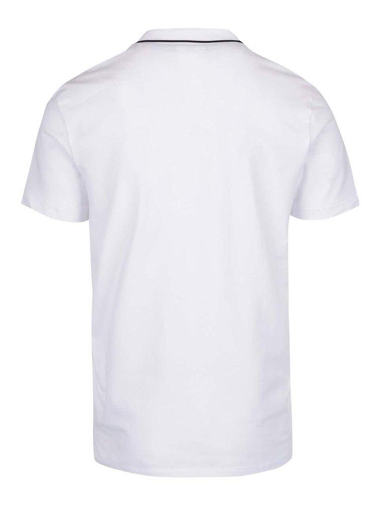 Tricou polo alb cu logo Jack & Jones Stone