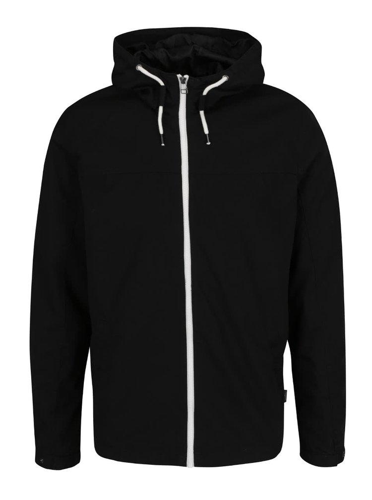 Černá bunda s kapucí Jack & Jones Originals Floor