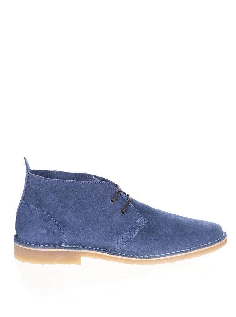 Modré semišové kotníkové boty Jack & Jones Gobi