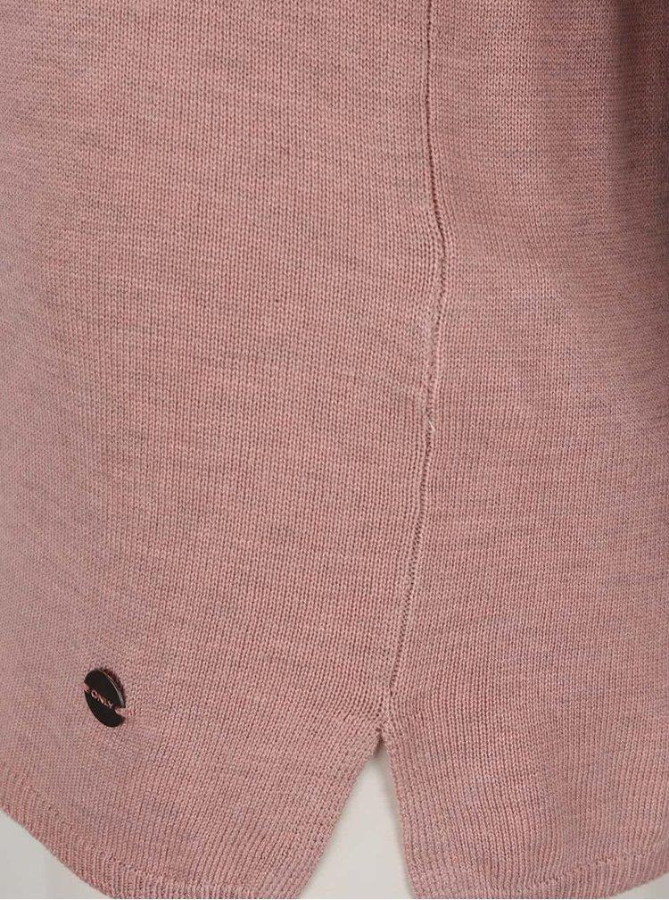 Starorůžový svetr se šněrováním ONLY Cosy