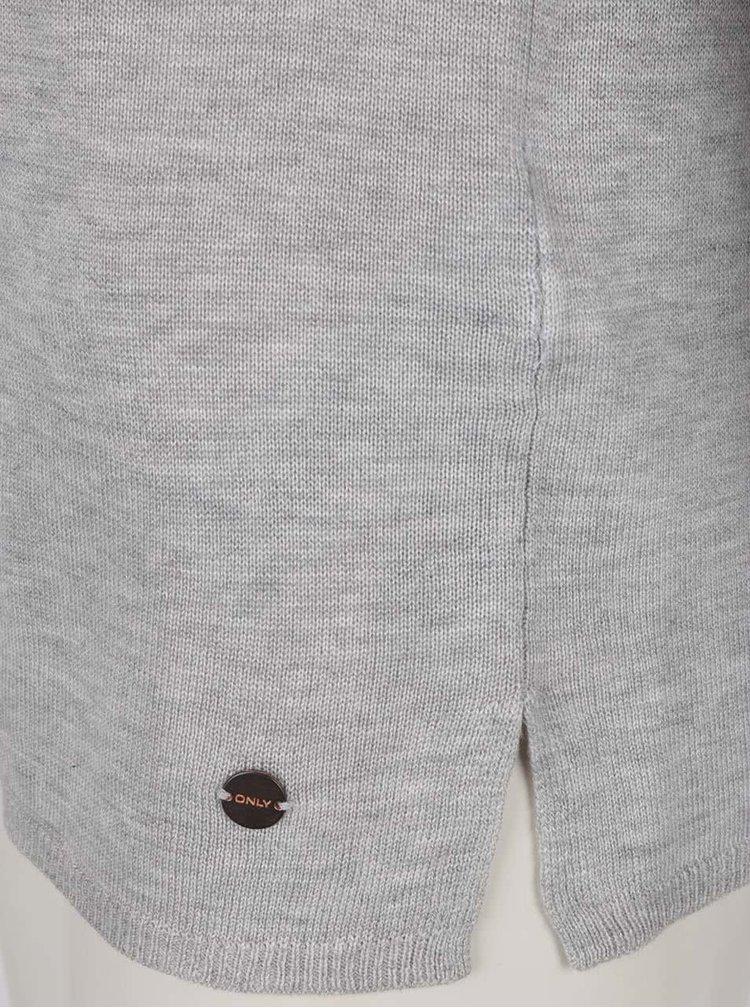 Bluză gri ONLY Cosy cu șireturi