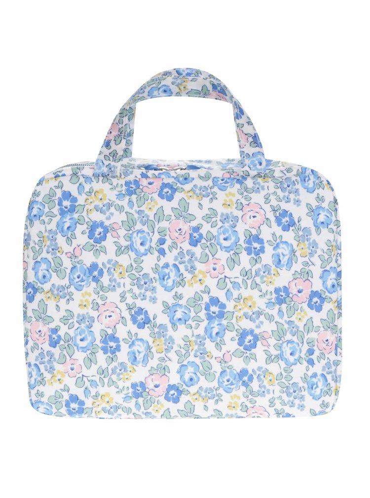 Modro-krémová květovaná kosmetická taštička Cath Kidston