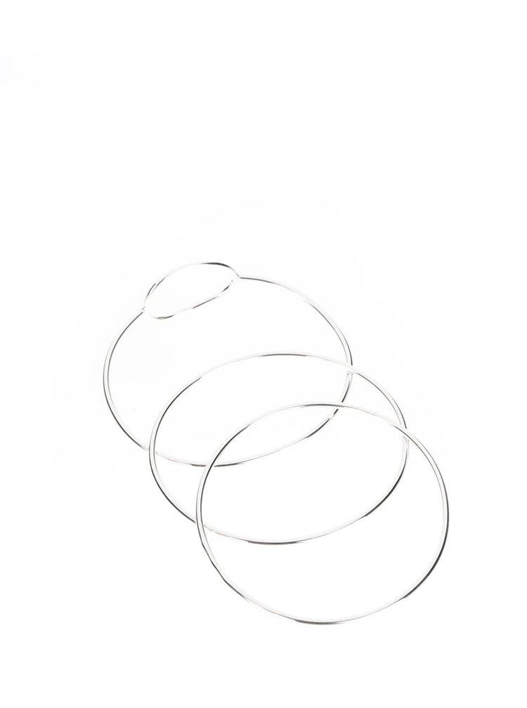 Sada tří náramků ve stříbrné barvě Pieces Maria