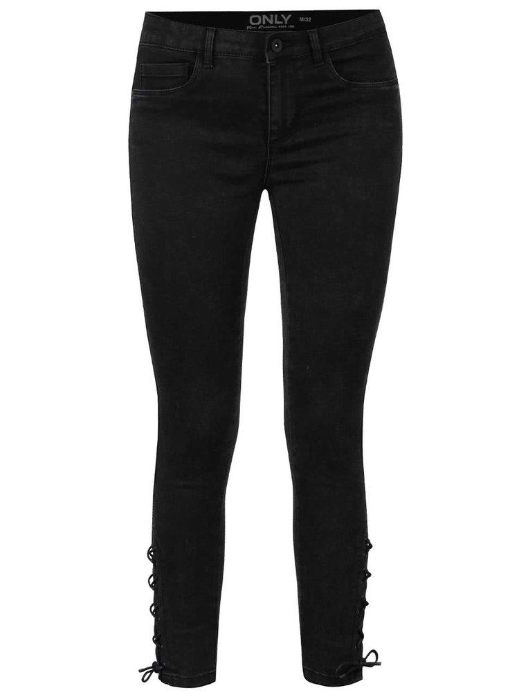 Tmavě šedé skinny džíny ONLY Royal