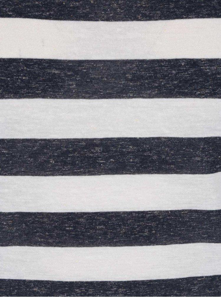 Krémovo-modré pruhované tričko VERO MODA Lua