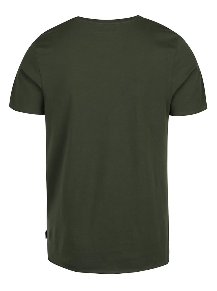 Tmavě zelené triko s potiskem Jack & Jones Splattered