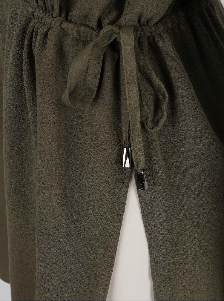 Khaki halenka s průstřihy na ramenou ONLY Brier