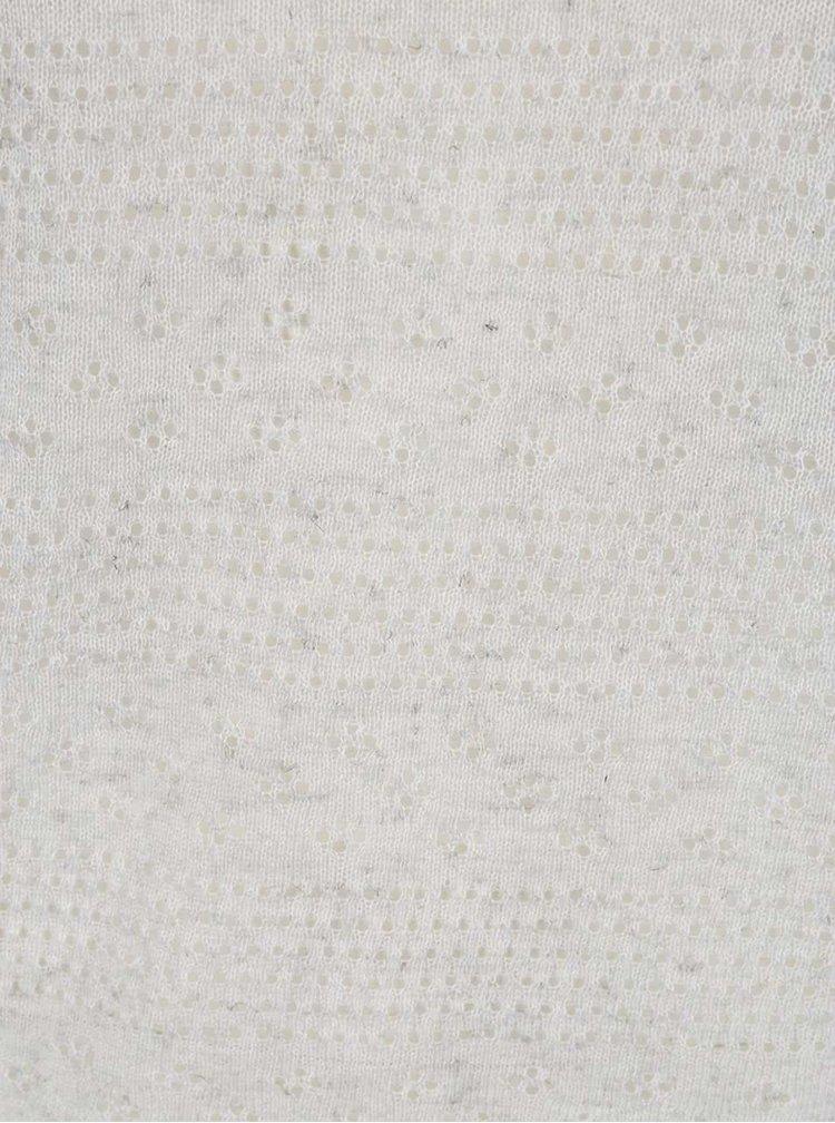 Pulover subțire gri VERO MODA Tulle cu perforații
