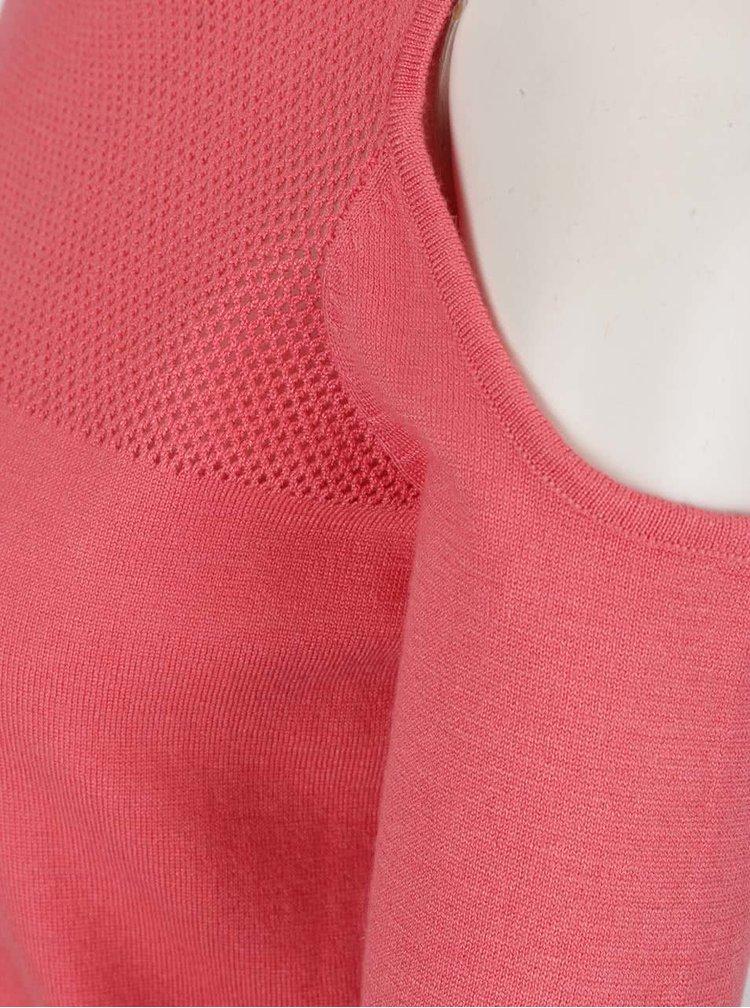Bluza corai ONLY Promise cu decupaje