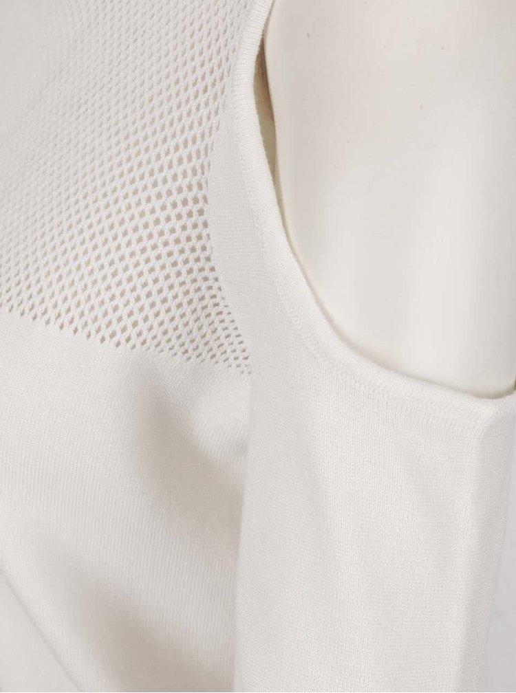 Krémový svetr s průstřihy na ramenou ONLY Promise