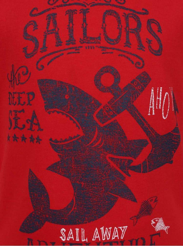 Tricou roșu Blue Seven din bumbac cu print