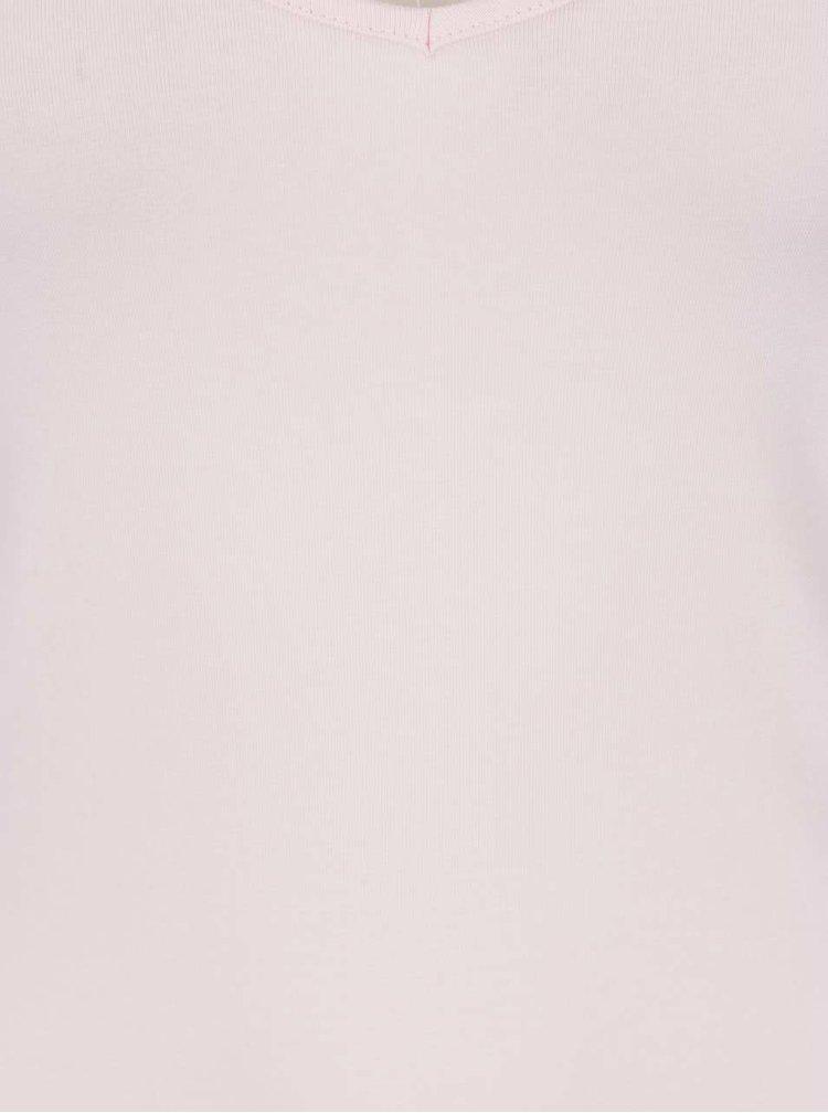 Světle růžové basic tílko VERO MODA Maxi My Soft