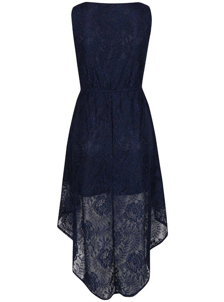 Tmavě modré krajkové šaty Mela London