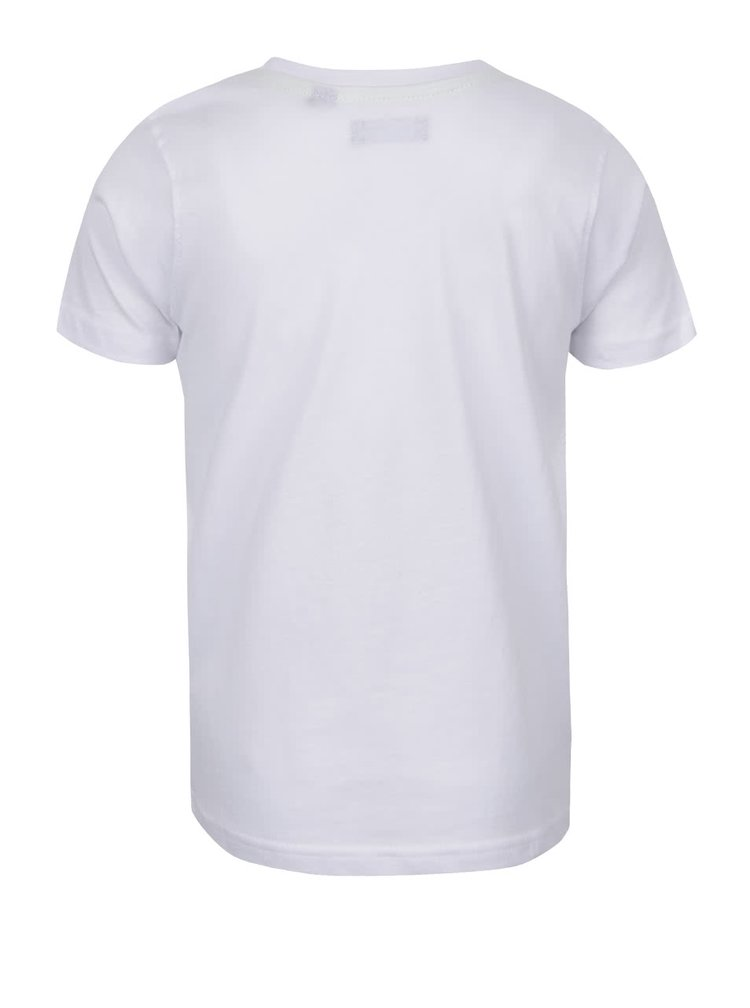 Tricou alb Blue Seven cu print