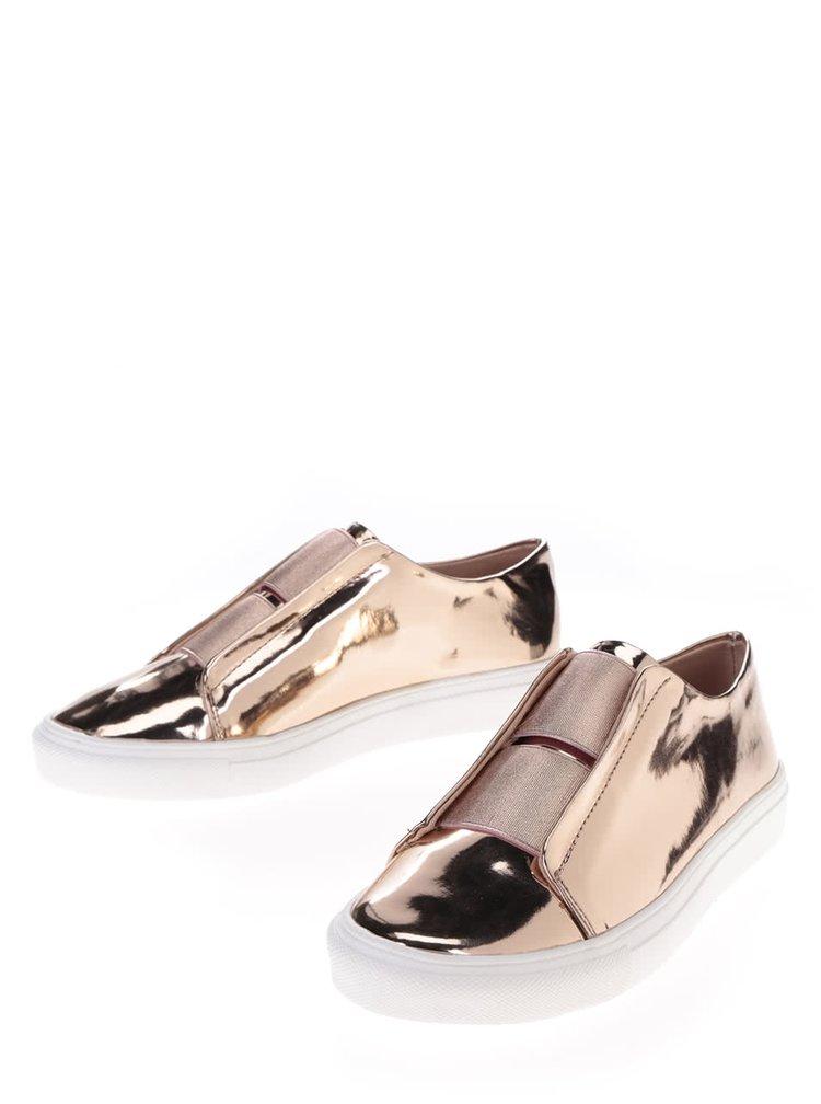 Loafers v růžovozlaté barvě Dorothy Perkins