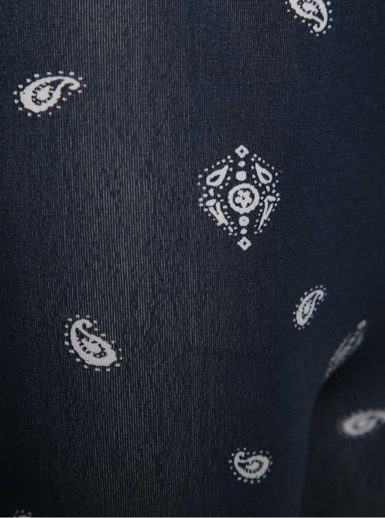 Tmavě modré holčičí vzorované legíny Blue Seven