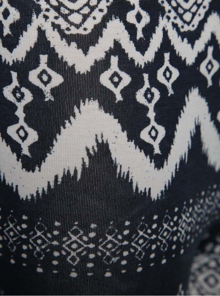 Colanți alb & albastru închis Blue Seven cu model