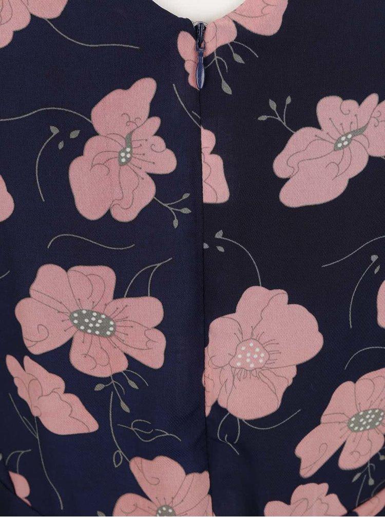 Rochie albastru inchis Mela London cu model floral