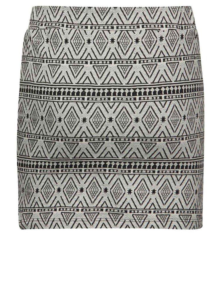 Černo-šedá holčičí vzorovaná sukně Blue Seven