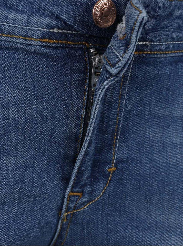 Modré slim džíny s potrhaným efektem VERO MODA Five