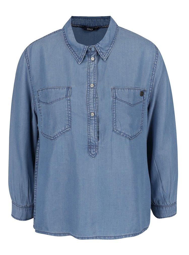 Světle modrá džínová košile ONLY Nori