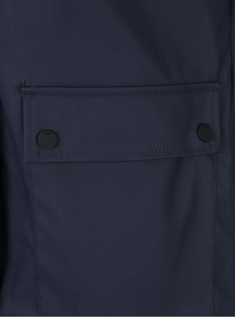 Tmavě modrá nepromokavá bunda ONLY Valiant