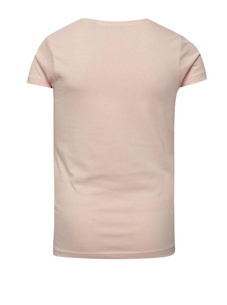 Světle růžové holčičí tričko s nápisem Blue Seven
