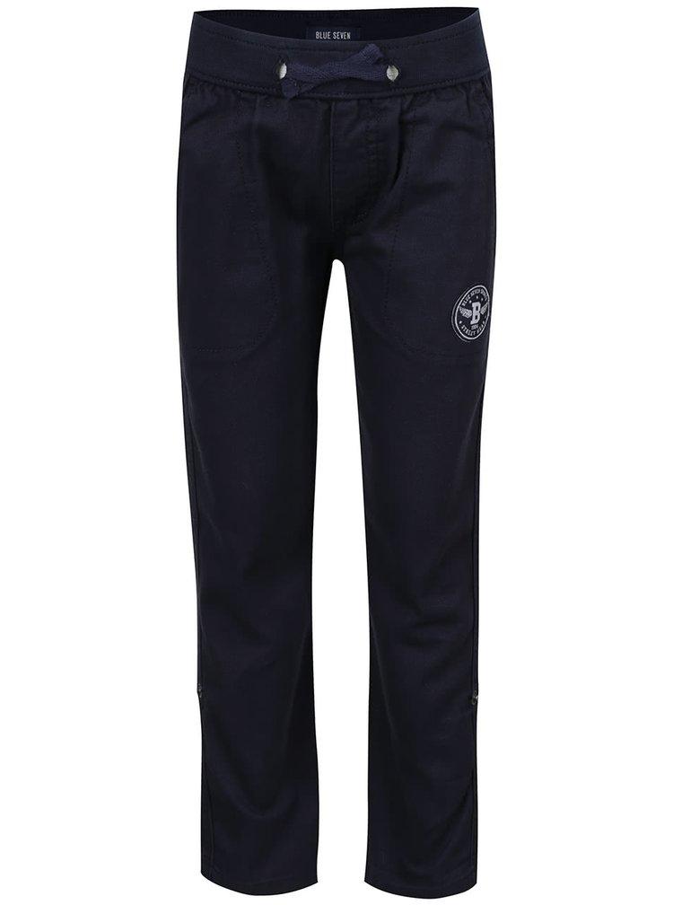 Pantaloni sport albastru închis Blue Seven cu aplicație