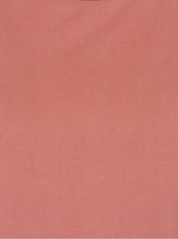 Starorůžové volné tričko VERO MODA Metti