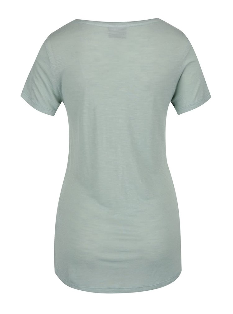 Světle zelené tričko s potiskem VERO MODA Inga